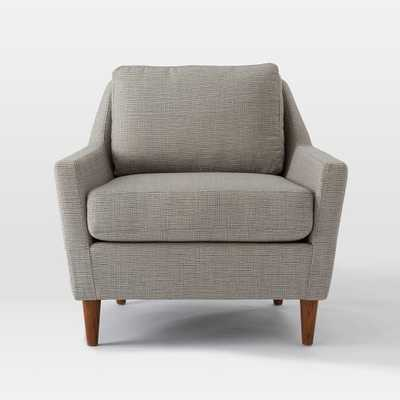 Everett Armchair - Prints, Crossweave Steel/Ivory - West Elm