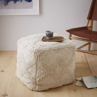 Diamond Bubble Wool Pouf (Cover + Insert) - West Elm