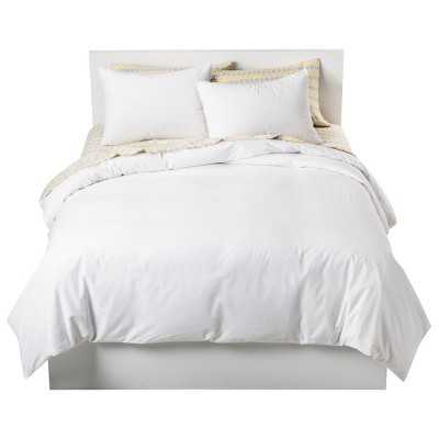 Full/Queen Duvet Cover Set - White - Target