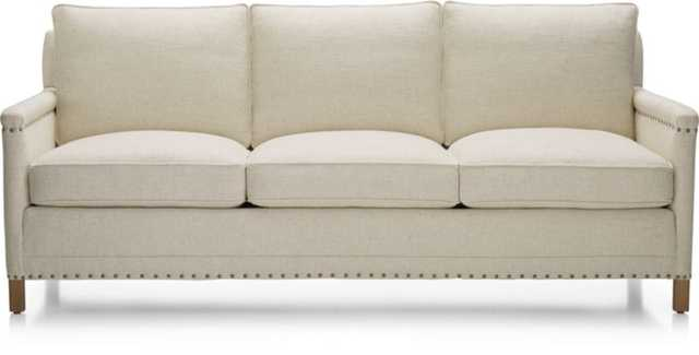 "Trevor 81"" Sofa - Oatmeal - Crate and Barrel"