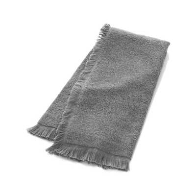 Fringe Grey Hand Towel - Crate and Barrel