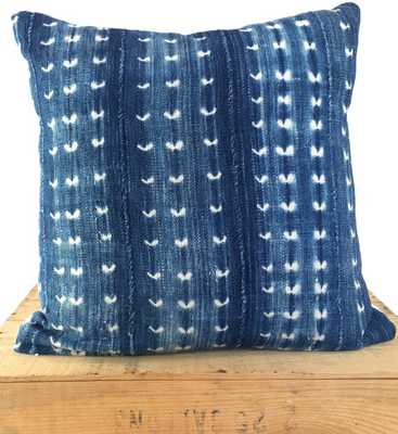 "18"" Inch Vintage Indigo African Mud Cloth Pillow Cover - Etsy"