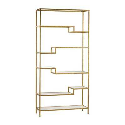 Gold and Glass Bookshelf - mintwoodhome.com
