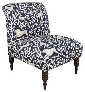 Eloise Tufted Slipper Chair, Pantheon - One Kings Lane