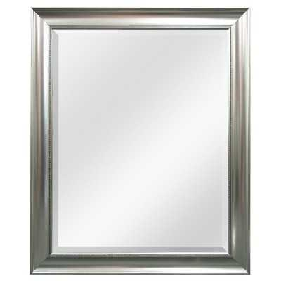 """Thresholdâ""""¢ Transitional Beaded Wall Mirror - Silver - Target"""