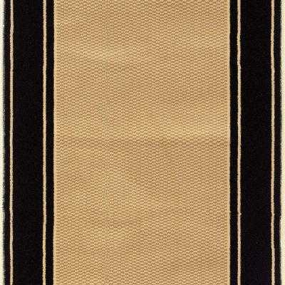 Kurdamir Washington Black 26 in. x Your Choice Length Roll Runner-Per Foot - Home Depot