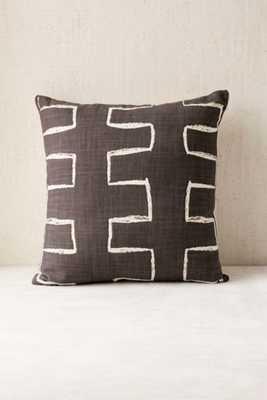 "4040 Locust Malki Pillow-Black/White-18""x18""- Polyfill Insert - Urban Outfitters"