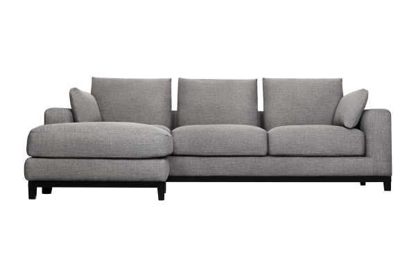 Kellan Sofa with Ottoman, Gray Tweed - capsulehome.com