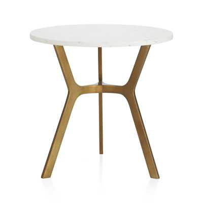Elke Round Marble Side Table - Crate and Barrel