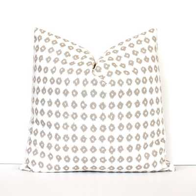 Tan Ikat Dots Decorative Pillow Cover - 17x17 - No Insert - Etsy