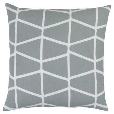 Surya Priston Geometric Throw Pillow, grey - 18x18 - Polyester fill - Target