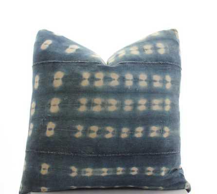 "Indigo/White Textile Pillow Cover, 20""Sq, Insert sold separately - Etsy"
