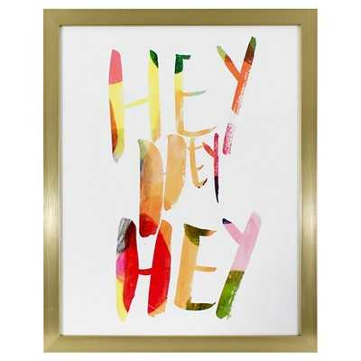 Hey Hey Hey Framed Wall Art 20x16- Oh Joy! - Framed - Target