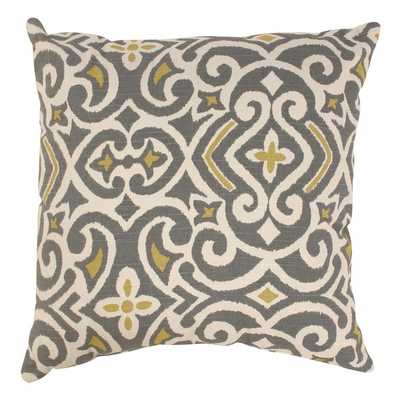 Pillow Perfect Damask Throw Pillow - 18sq. - Polyester fill - Overstock