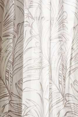 "Plum & Bow Edna Palm Curtain - Cream - 52""W x 84""L - Urban Outfitters"
