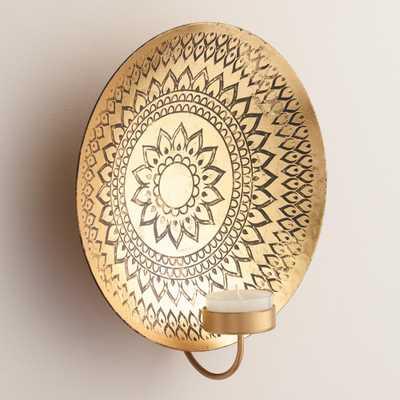 Kalini Antique Brass Medallion Sconce - World Market/Cost Plus