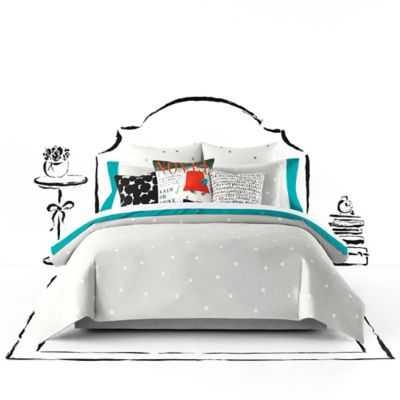 kate spade new york Deco Dot King Comforter - Platinum - Bed Bath & Beyond