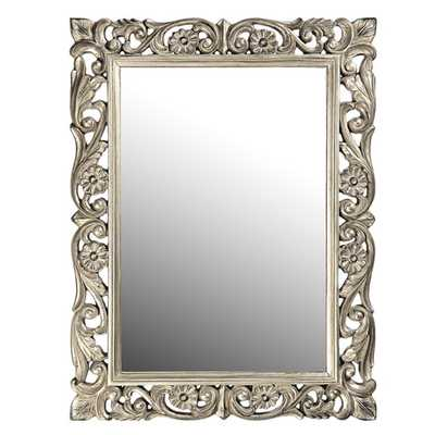 Chateau Mirror - Antique French Pewter - AllModern