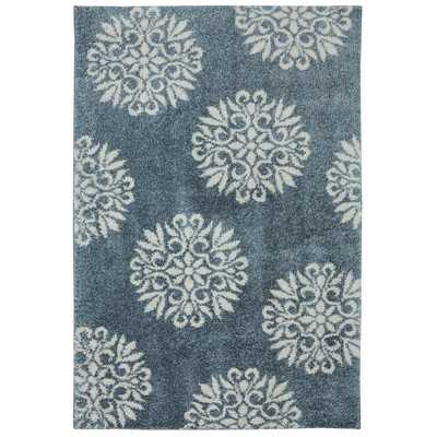 Huxley Slate Blue Exploded Medallions Woven Area Rug by Mohawk Home - Wayfair