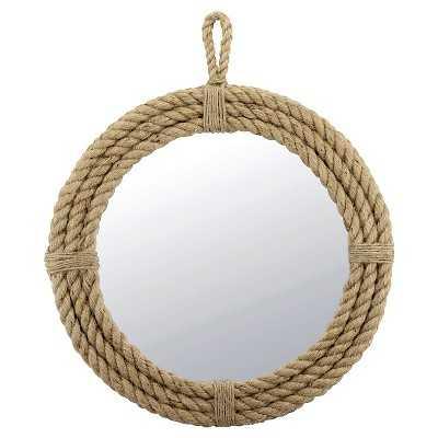 CKK Rope Round Mirror with Loop Hanger Rope - Target