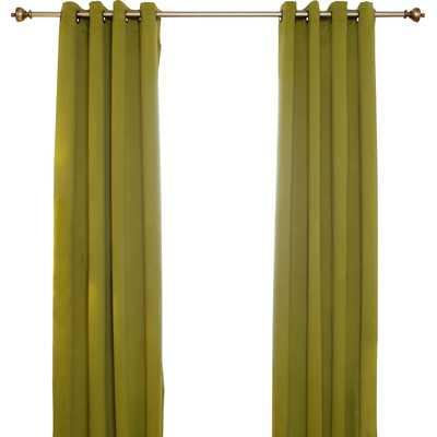 "Curtain Panel - 108"" L x 52"" W - Olive - Wayfair"