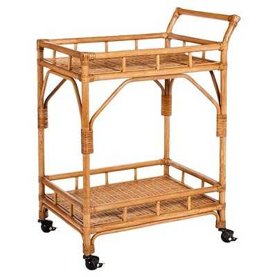 Rattan Bar Cart with Casters - Target