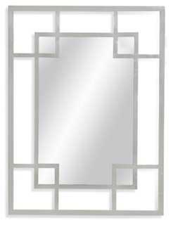 Allendale Oversize Mirror, Silver Leaf - One Kings Lane