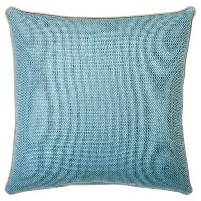 "Basketweave Toss Pillow 18x18"" Blue-with insert - Target"