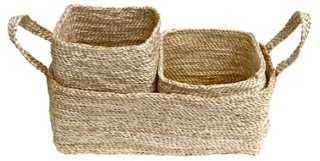 Trio of Jute Storage Baskets - One Kings Lane