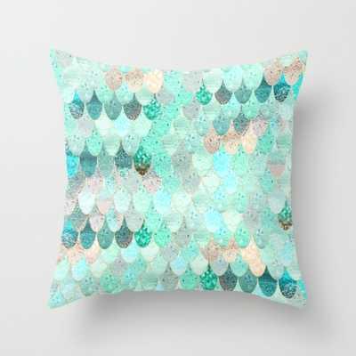 "SUMMER MERMAID Throw Pillow 16"" x 16"" insert sold separately - Society6"