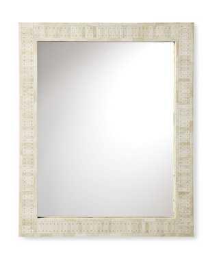 Cyprus Bone Inlay Mirror - Large - Domino
