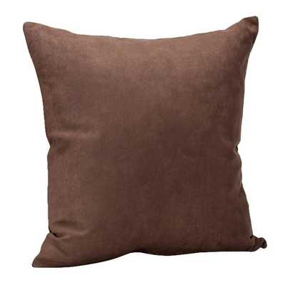 """Decorative Microsuede Throw Pillow- 18""""- Down/Feather insert - AllModern"""