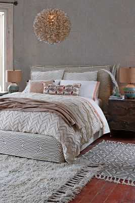 Textured Chevron Duvet - King - Anthropologie