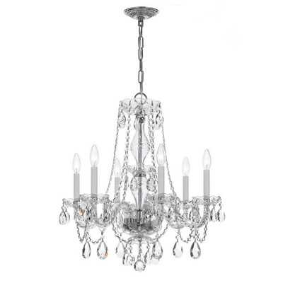 6 Light Crystal Chandelier VI - Wayfair