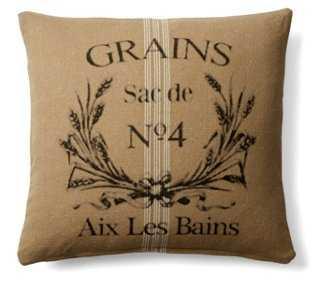 Grain Sac 20x20 Cotton Pillow, - One Kings Lane