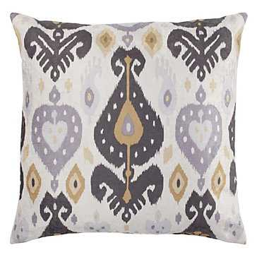 "Pazar Pillow 24"", Grey/Gold - With insert - Z Gallerie"