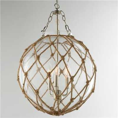 Rope Net Glass Sphere Chandelier - shadesoflight.com