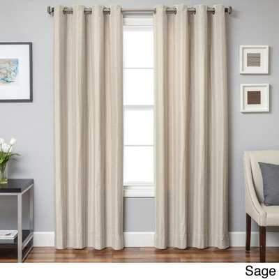 "Campania Chevron Grommet Top Curtain Panel - Sage - 84""L - Overstock"