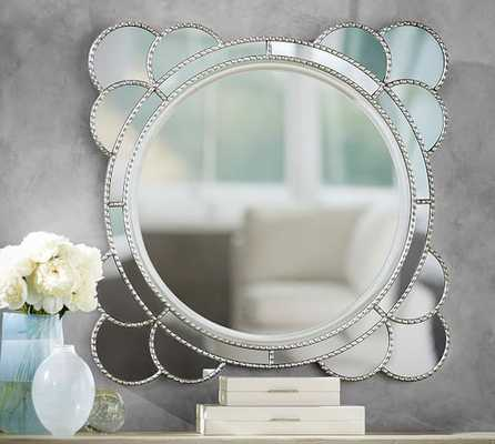 Tatiana Silver Scallop Mirror - Pottery Barn