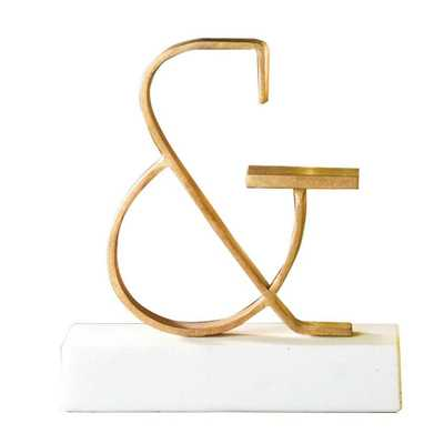 Gold Ampersand Objet Sculpture - Domino