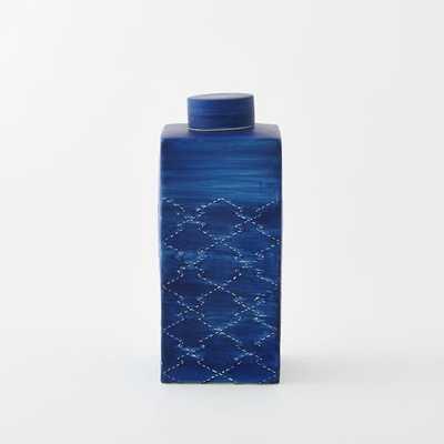 Indigo Ceramic Vases - West Elm