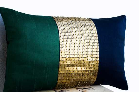 Beaded Throw Pillow Cover - Etsy