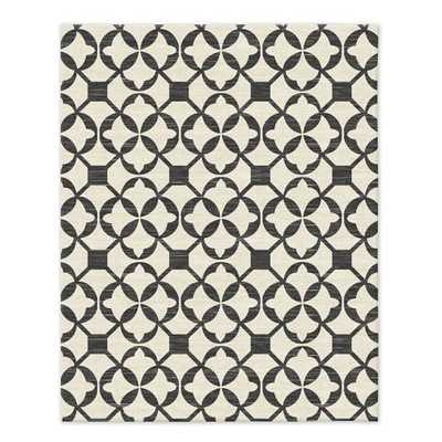 Tile Wool Kilim - Iron - 8' x 10' - West Elm