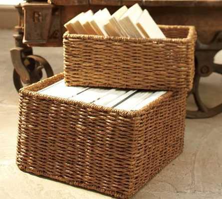 SAMANTHA SEAGRASS BASKETS- set of 3 - Pottery Barn