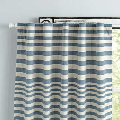 "96"" Yellow Fine Lines Curtain - Land of Nod"