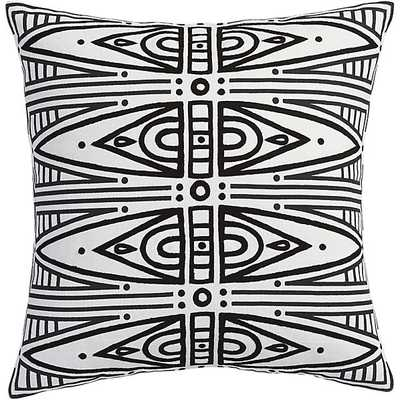 "Vectra 18"" pillow with feather-down insert - CB2"