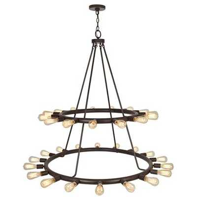 Large Industrial Exposed Bulb Chandelier - Shades of Light