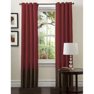 Lush Decor Prima Red/ Chocolate Curtain Panels (Set of 2) - Overstock