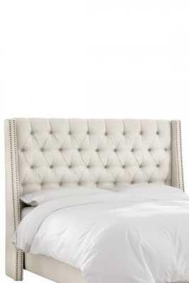 Custom Dale Upholstered Headboard-King-Talc Linen - Home Decorators