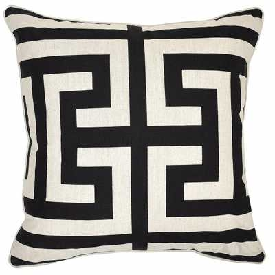 NTB Estate Black/White Pillow - 22x22 - Insert sold separately - High Fashion Home